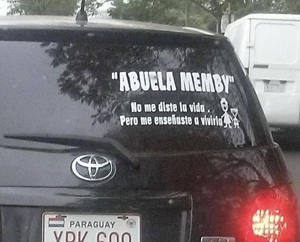 Abuela memby es una suerte insitución informal en Paraguay