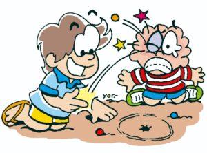 """""""Kuâ chapî"""" es el que pierde generalmente en los juegos con otros niños."""