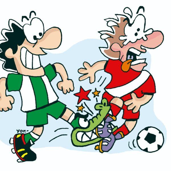 Jakare juru es una falta grave que se comete en el fútbol